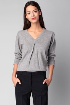 Pull gris cachemire Nala #TaraJarmon sur #MonShowroom.com