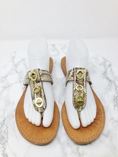 d79a8503a Coach SKYLAR Snakeskin T Strap Flat Leather Flip Flop Sandals Size 9.5B   fashion  clothing  shoes  accessories  womensshoes  sandals  ad (ebay link)