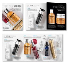 Sephora direct mail (Fall 2012)  Creative direction: Jacki Puzik #skincare #peterthomasroth