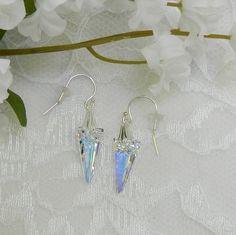Swarovski Crystal Spike earringsSwarovski by LS4Swarovski on Etsy