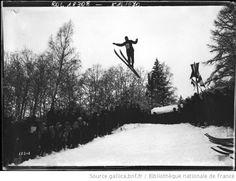 Chamonix, [3] février 1912, concours international de sauts [ski, VIe concours international de ski du Club Alpin Français] : [photographie de presse] / [Agence Rol] - 1