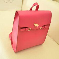 Cute Horse Women's Lady Faux Leather Backpack Bookbag Laptop Bag Shoulder Bag   eBay ☻. ☻. ✿ ☻