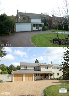 Exterior Transformation House in Surrey by Back to Front Exterior Des. - Before After DIY