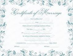 Vintage Flowers Marriage Certificate Template  Ministry