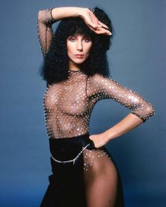 """Cher and Bob Mackie Reunite: A Look Back at Their Sparkly Relationship: """"Nipples are the sequins of nature.""""--something Bob Mackie may have said once. Cherokees, The Cher Show, Cher Photos, Manequin, 168, Stars Nues, Glamour, Bob Mackie, Latest Outfits"""