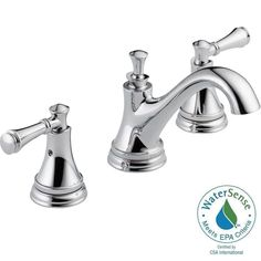 Delta Silverton 8 in. Widespread 2-Handle Bathroom Faucet in Chrome-35713LF - The Home Depot