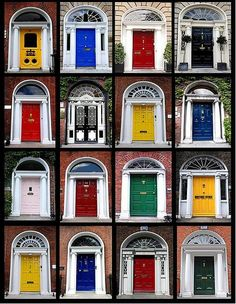 After the death of Queen Victoria England ordered the citizens of Ireland (which was still under british rule) to paint all of their doors black in mourning of the queen. The Irish rebelled and painted their doors bright colors, and the tradition has stuck.