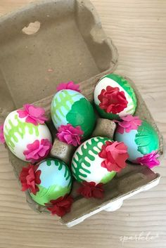 Fun crafts to make Easter eggs decoupaged with geranium flower dies, with the flowers made to pop-up! Easter Crafts, Fun Crafts, Crafts For Kids, Amazing Crafts, Easter Decor, Easter Ideas, Making Easter Eggs, Geranium Flower, Easter Colors