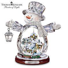 Thomas Kinkade Snowman Figurine- I would love to have this as an addition to our Wedding. I love Thomas Kinkade!!!