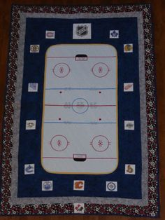 I wish I knew how to quilt because I would love to make this quilt ... : hockey quilt patterns - Adamdwight.com