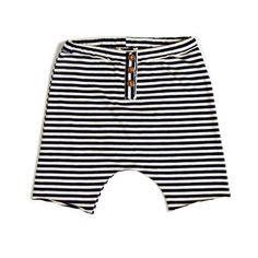 Da 12 mesi a 12 anni - Maschio - Pantaloni modello baggyin jersey di cotone fantasia millerighe blunavy, bianco P/E 2016
