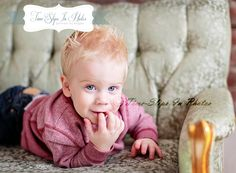 Time-Slips In Photos ~ Children's Photography Vintage Couch sessions.