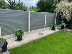 Back Garden Design, Fence Design, Small Backyard Landscaping, Front Yard Landscaping, Backyard Fences, Backyard Ideas, Garden Fence Panels, Modern Fence Panels, Garden Privacy