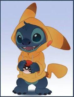 Stitch as Pikachu -- Oh man, are those pokemon in for a big surprise! Lelo And Stitch, Lilo Y Stitch, Cute Stitch, Cute Disney Wallpaper, Wallpaper Iphone Cute, Cute Cartoon Wallpapers, Cute Disney Drawings, Cute Drawings, Stitch And Pikachu