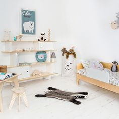 A stunning storage piece that can be used as a bookshelf, toy display - even right next to the bed as a bedside shelf and table - the Oeuf Mini Library not only