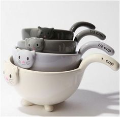 measuring cats ( Amazon link ::  http://www.amazon.com/Kitten-Measuring-Bowls-Baking-Ceramic/dp/B004115B8U : )