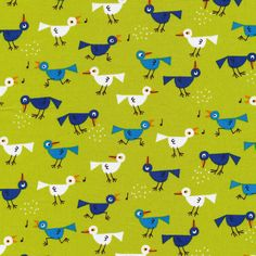 Birds :: Ed Emberley's Happy Drawing, Too from Cloud9 Fabrics
