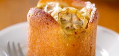 Feijoa and lemon syrup cakes recipe - By FOOD TO LOVE, The feijoa slices on top . - Feijoa and lemon syrup cakes recipe – By FOOD TO LOVE, The feijoa slices on top of these deliciou - Lemon Syrup Cake, Feijoada Recipe, Baking Recipes, Cake Recipes, Biscuit Cake, Cake Tasting, I Love Food, Just Desserts, Cupcake Cakes