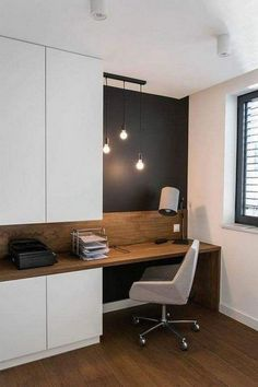 25 Modern Home Decoration Ideas with Simple Office Room . - 25 Modern Home Decoration Ideas with Simple Office Room … 25 Modern Home Decoration Ideas with Simple Office Room … Office Nook, Home Office Space, Home Office Decor, Office Ideas, Office Setup, Office Organization, Office Decorations, Tiny Home Office, Home Office Bedroom