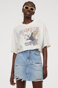 Jeansrock - Hellblau - Ladies | H&M DE H M Outfits, Jeans Rock, Lady, Denim Skirt, Skirts, Fashion, Light Blue, Scale Model, Moda