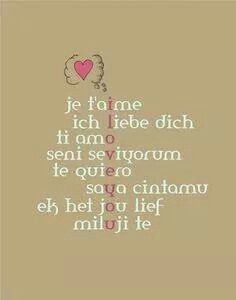 I like this acrostic poem. I love you in other languages can spell I love you in English.
