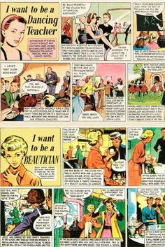 Andrew Martin I Want To Be 'Vintage Comic' Fabric - Sold by the Metre