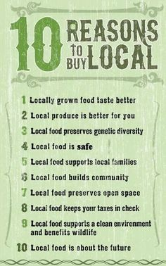 10 Reasons to Buy Local Produce from Farmer's Markets Buy Local, Shop Local, Farm Shop, Lokal, Sustainable Food, Sustainable Living, Farm Stand, Support Local, Found Out