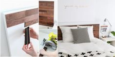 Awesome Ikea Hack of the Week: A wooden headboard that doesn't require a drill Chaise Ikea, Ikea Furniture Hacks, Ikea Hackers, Hacks Diy, Fashion Room, Floating Nightstand, Sweet Home, Interior, Home Decor