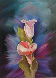 Artist: Vihou Katerina title: Flower dim: 60x80 oil painting price: 400 euro Joomla Templates, Euro, Oil, Gallery, Artist, Flowers, Painting, Blue Flowers, Blue Nails