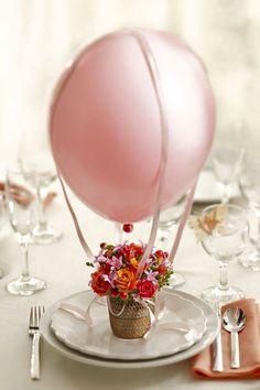 : Globo con helio, Crisantemo y Rosas