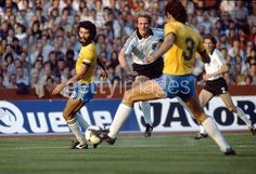 West Germany 1 Brazil 2 in May 1981 in Stuttgart. Karl-Heinz Rummenigge shoots for goal #Friendly