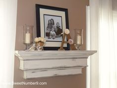 DIY Shabby Chic Shelf I love this! This I will do this in our do-over master bedroom!!