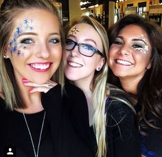 Face painting done by me on @brittneyriewe17 and @smnsam for the earth month carnival ✨