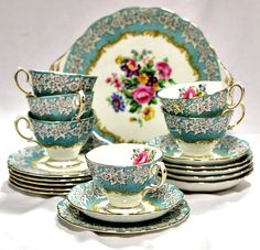 All sorts of vintage tea sets, china, tea pots, bakery displays and more.