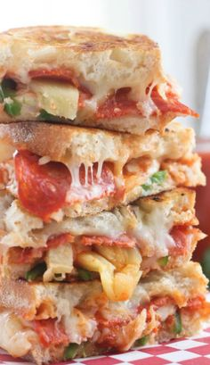 Spicy Hawaiian Pizza Grilled Cheese