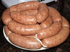Great base recipe for Homemade Bratwurst. Make at a fraction of the price of pre-made brats. Homemade Sausage Recipes, Homemade Bratwurst Recipe, Homemade Brat Recipe, Lb Recipe, Base Recipe, Home Made Sausage, Bratwurst Recipes, German Sausage, How To Make Sausage