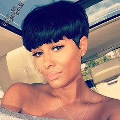 love love love this style Short Sassy Hair, Short Hair Cuts, Pixie Cuts, Big Chop, Weave Hairstyles, Girl Hairstyles, Hair Colorful, Curly Hair Styles, Natural Hair Styles