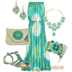 Sand, Sky, and Sea, created by pjm27 on Polyvore