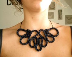 diy twisted rope necklace
