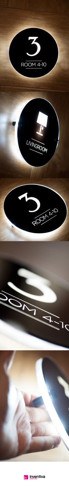 #signage #led #hotels Segnaletica luminosa hotels http://www.inventivashop.com/targhe-luminose-led-a-parete-25
