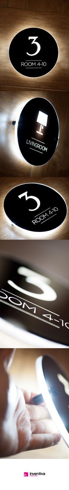 #signage #led #hotels Segnaletica luminosa hotels  http://www.inventivashop.com/targhe-luminose-led-a-parete-25