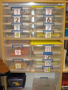 math stations...great way to organize by skill!