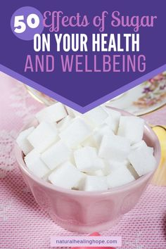 If you are serious about making your health a priority you can't overlook the ill effects of sugar. Here are 50 reasons why you should scale back on sugar. Health And Wellbeing, Health And Nutrition, Mental Health, Holistic Healing, Natural Healing, Effects Of Sugar, Sugar Free Diet, Healthy Mind, Healthy Heart