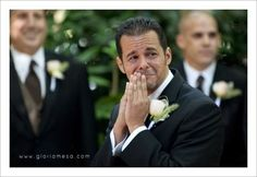 My friend Randi's husband seeing her the moment she was walking down the aisle. Every woman deserves this :)