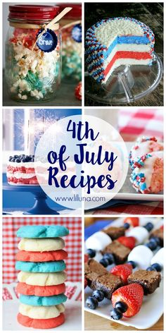A beautiful red, white and blue collection of of July desserts - from cupcakes to cakes to fudge to trifles, there are so many patriotic treats! Fourth Of July Cakes, 4th Of July Desserts, Fourth Of July Food, Holiday Desserts, July 4th, Holiday Treats, Holiday Recipes, Favorite Holiday, Holiday Fun