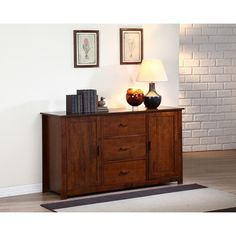 Dallas Walnut Buffet - Overstock™ $480  29.2 inches high x 15.9 inches wide x 17 inches deep