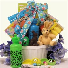 Egg-streme Sports: Easter Gift Basket for Boys Ages 6 to 9 Years Old - http://bestchocolateshop.com/egg-streme-sports-easter-gift-basket-for-boys-ages-6-to-9-years-old/