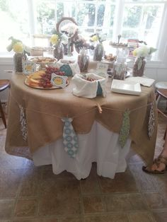 """A DIY """"Little Man"""" Themed Sip and See (Baby Shower)"""