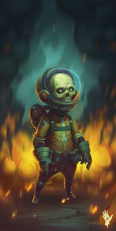 Skull Boy2 by AlexShatohin.deviantart.com on @DeviantArt