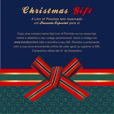 *CHRISTMAS GIFT* Temos um presente especial para si! Informação completa em www.lionofporches.com Embrace Art, Live with Passion: #embraceart